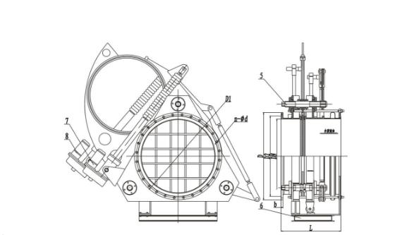 Scroll sector blind valve